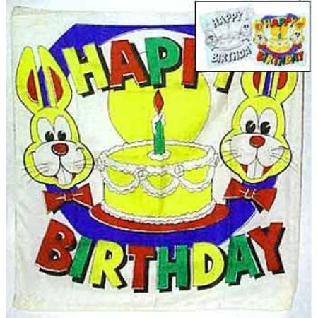 "18"" Happy Birthday Silk Dyeing Set"