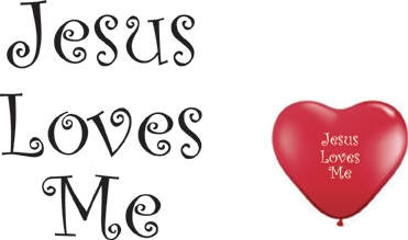 "Qualatex 6"" Jesus Loves Me Heart Balloons, RED, 100 count"