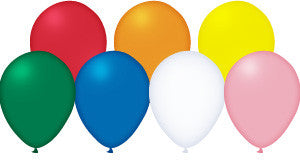 "Qualatex, 11"" Round Balloons, Assorted, 100 count"