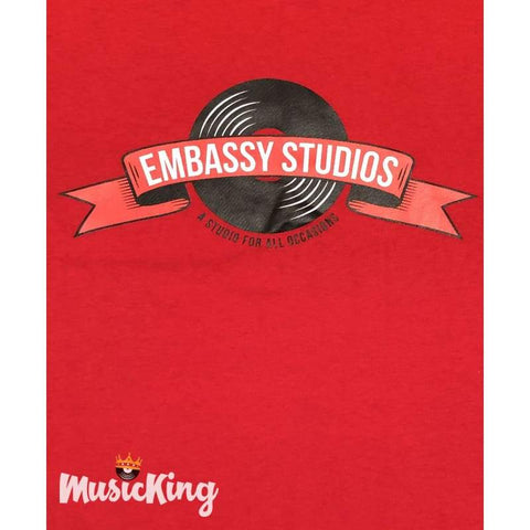 Embassy Studios - Youth Red T Shirts - T-Shirt