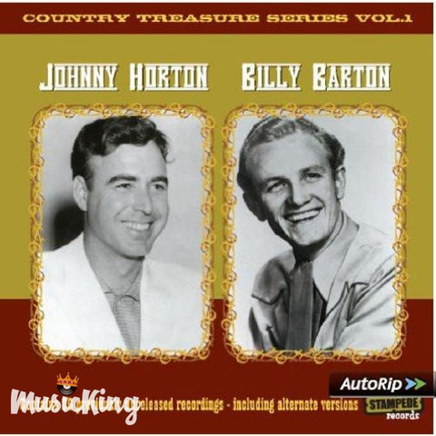 Johnny Horton And Billy Barton - Country Treasure Series Vol 1 - CD