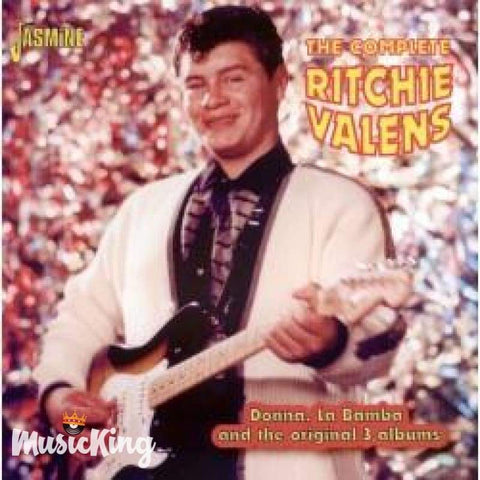 RITCHIE VALENS - THE COMPLETE RITCHIE VALENS - DONNA LA BAMBA AND THE ORIGINAL 3 ALBUMS CD - CD