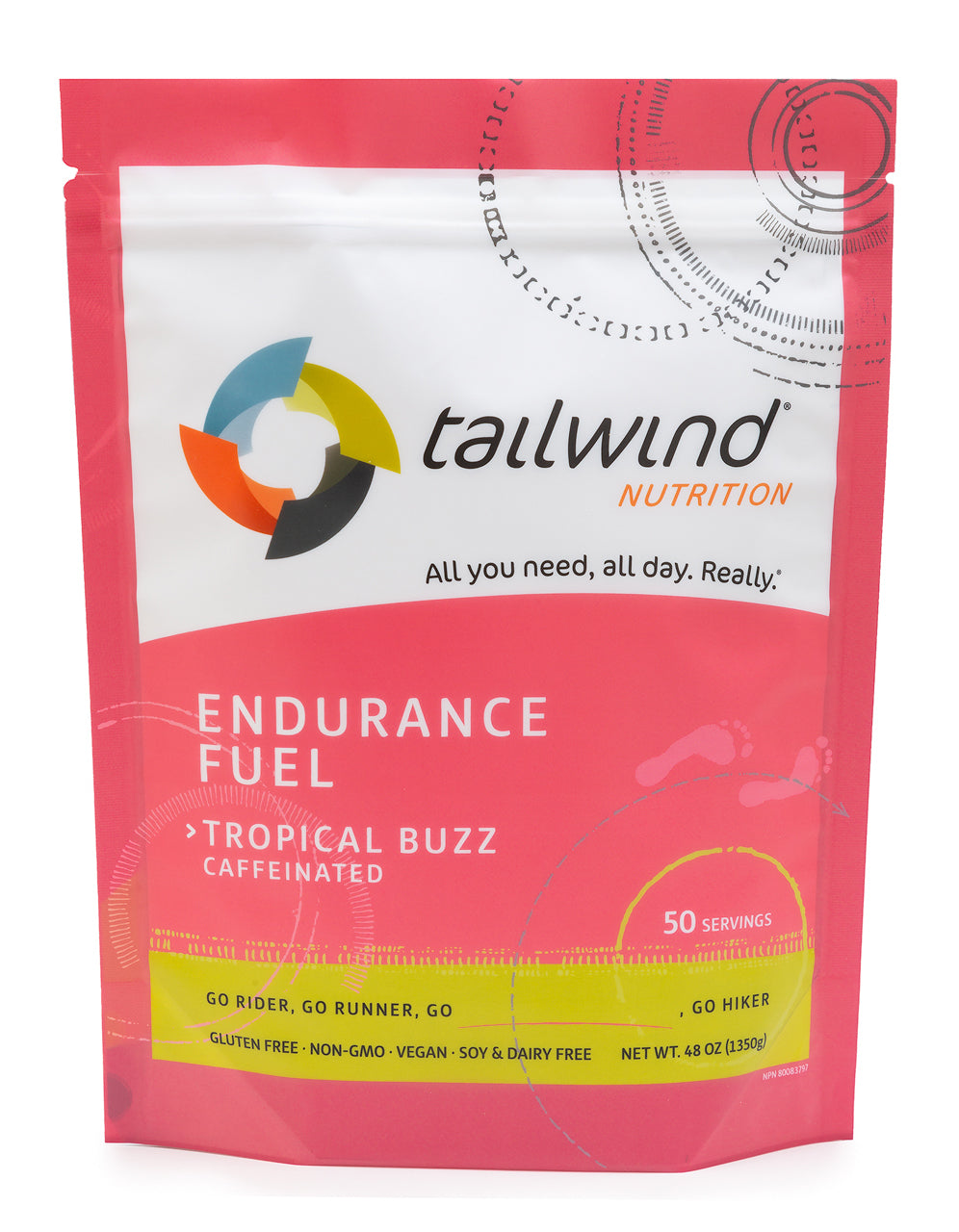 Caffeinated Endurance Fuel Tropical Buzz - 50 Serving