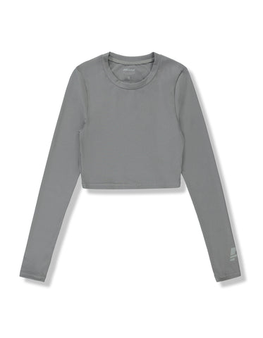 Paloma Long Sleeve Crop Running Top - Women's