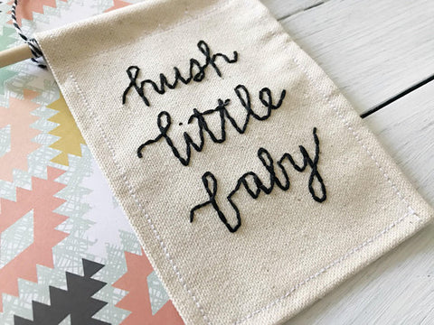 Mountains of Thread - Hush Little Baby Mini Wall Banner