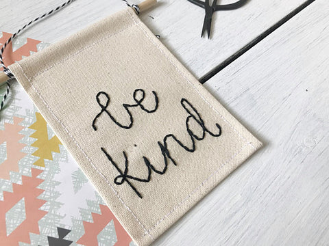 Mountains of Thread - Be Kind Mini Banner