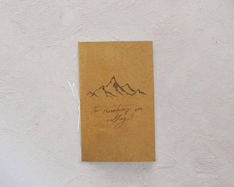 Script + Vine - Mountains Are Calling Pocket Notebook