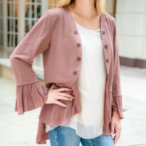 CobbleStone Living - Arianna Jacket - Rose