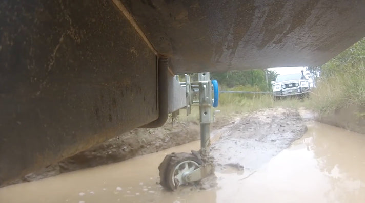 Trailer in mud