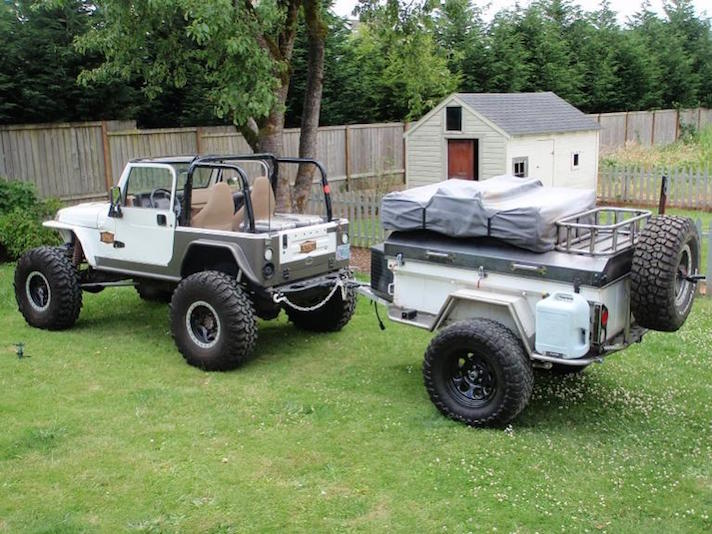 Offroad jeep trailer