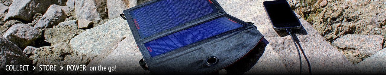 Use solar energy to charge or power devices on the go