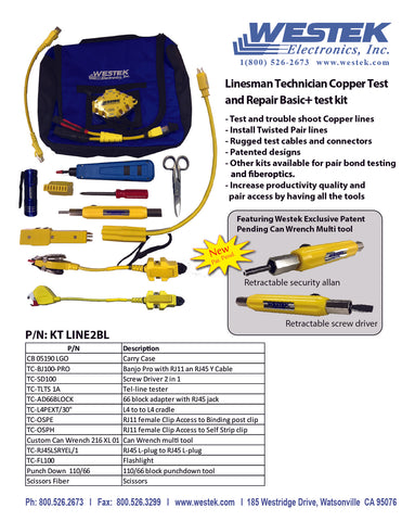 Linesman Technician Copper Test and Repair Basic + Test Kit