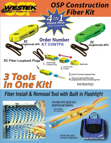 KT CONTFK OSP Construction Fiber Kit