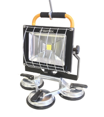4500 Lumen LED Portable Rechargeable Floodlight w/Suction Cup Base