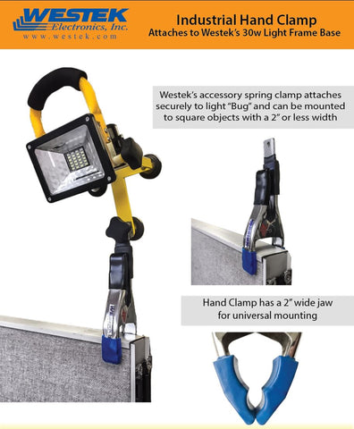 TC-HANDCLAMP to be used with SMALL LED FLOOD LIGHT