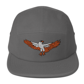 Hot Shot Five Panel Hat Grey