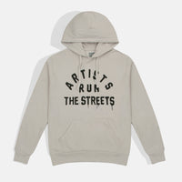 ARTISTS RUN THE STREETS HOODIE (LIGHT GREY)