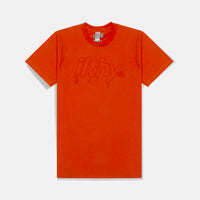 LOGO DRIP EMBROIDERED T-SHIRT (ORANGE)