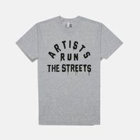 ARTISTS RUN THE STREET T-SHIRT (LIGHT GREY)