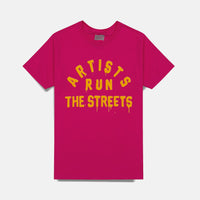 ARTISTS RUN THE STREETS T-SHIRT (MAGENTA)
