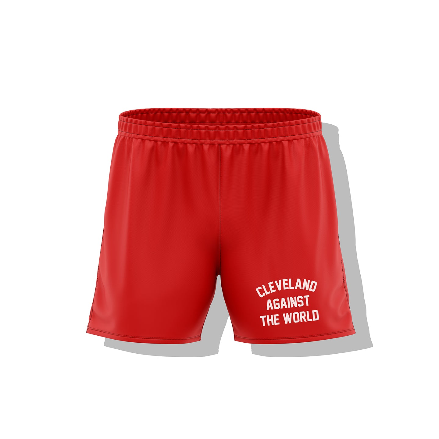 Cleveland Against The World Men's Athletic Long Shorts (RED)