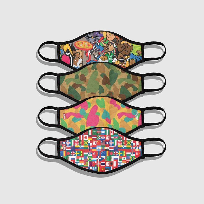 ILTHY Patterns Face Mask (4 PACK)