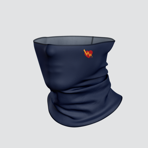 CLASSIC HEART NECK MASK (NAVY)