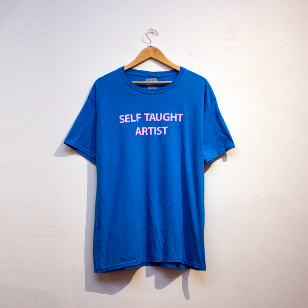 SELF TAUGHT ARTIST T-SHIRT (PACIFIC BLUE0