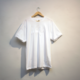 LOGO DRIP EMBROIDERED T-SHIRT (WHITE)