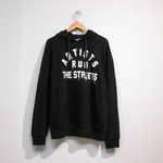 ARTISTS RUN THE STREETS HOODIE (BLACK)