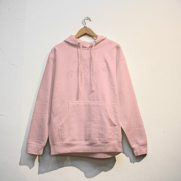 LOGO DRIP EMBROIDERED HOODIE (PINK)