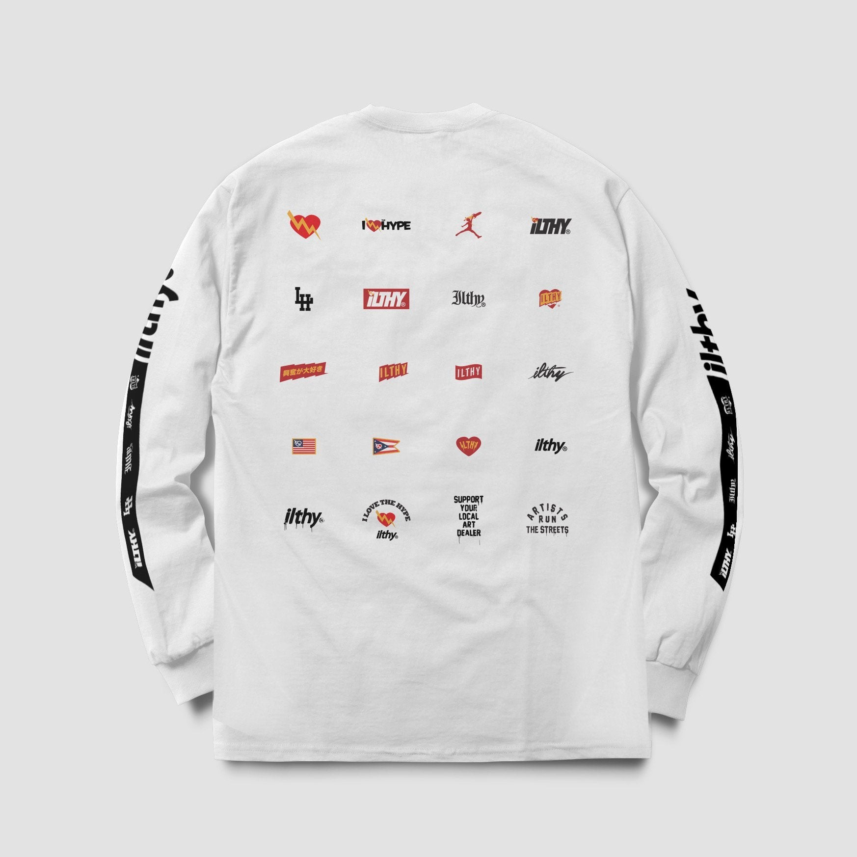 Brand History Long Sleeve Shirt (White) - ILTHY®