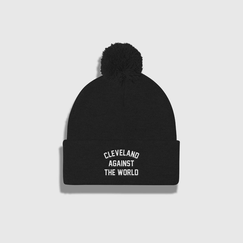 Cleveland Against the World Pom Pom Knit Cap