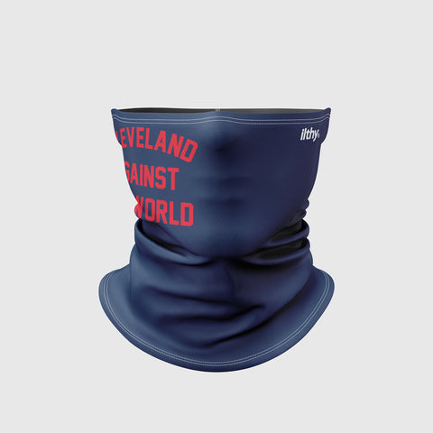 Cleveland Against the World Neck Mask (Navy/Red)