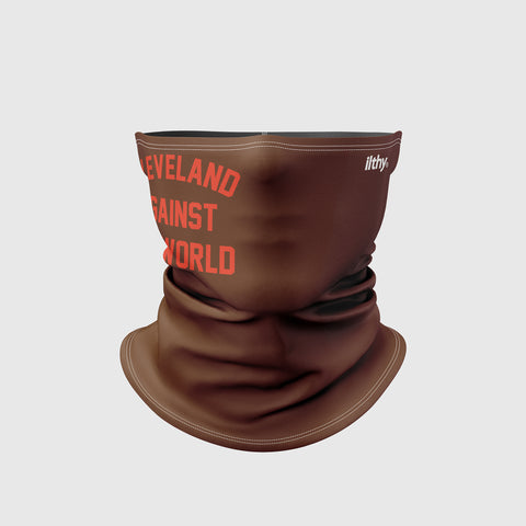 Cleveland Against the World Neck Masks (Brown/Orange)