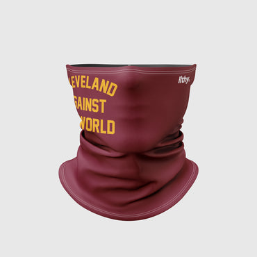 Cleveland Against the World Neck Mask (Maroon/Gold)