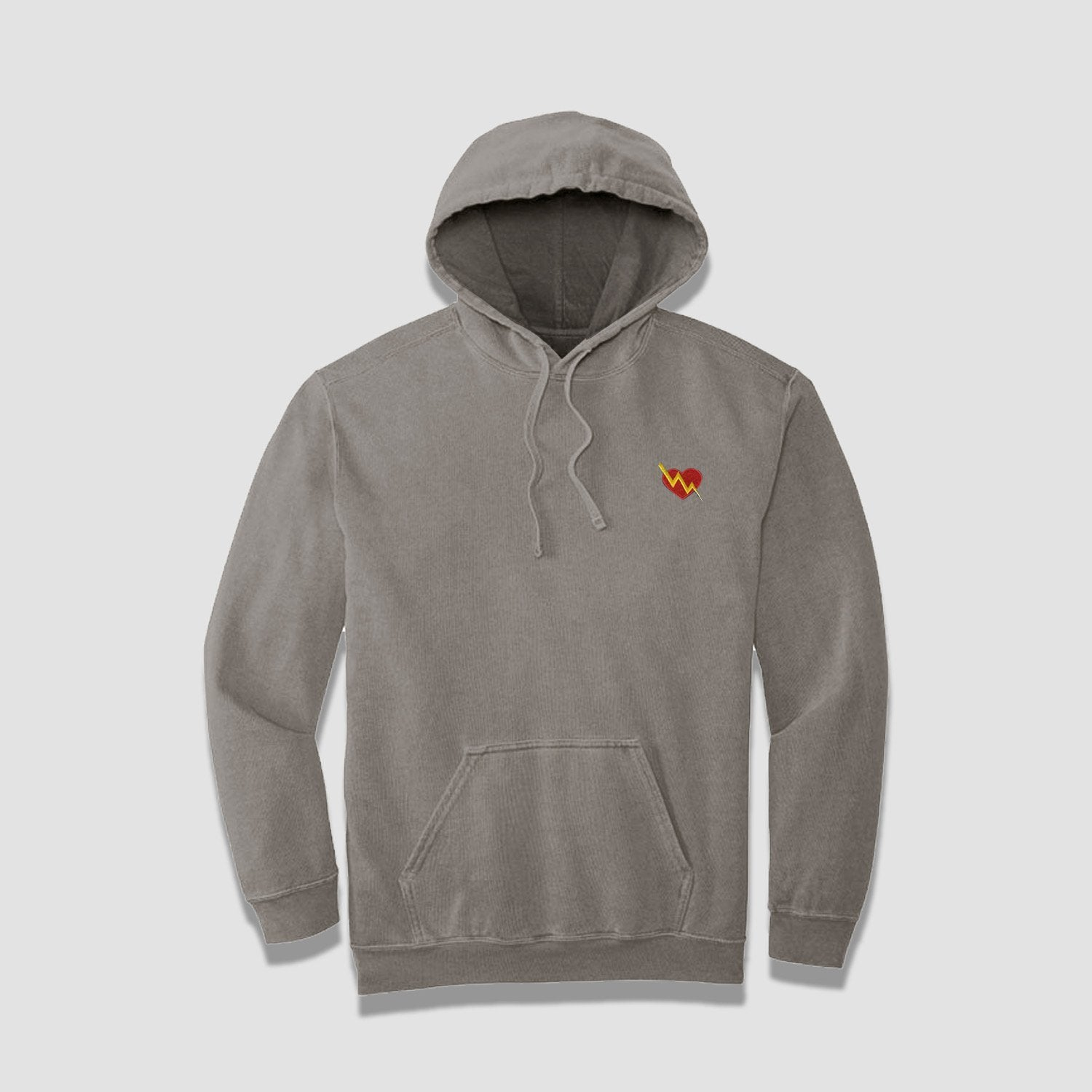 Cozy Heart Embroidered Hoodie (Concrete) - ILTHY®
