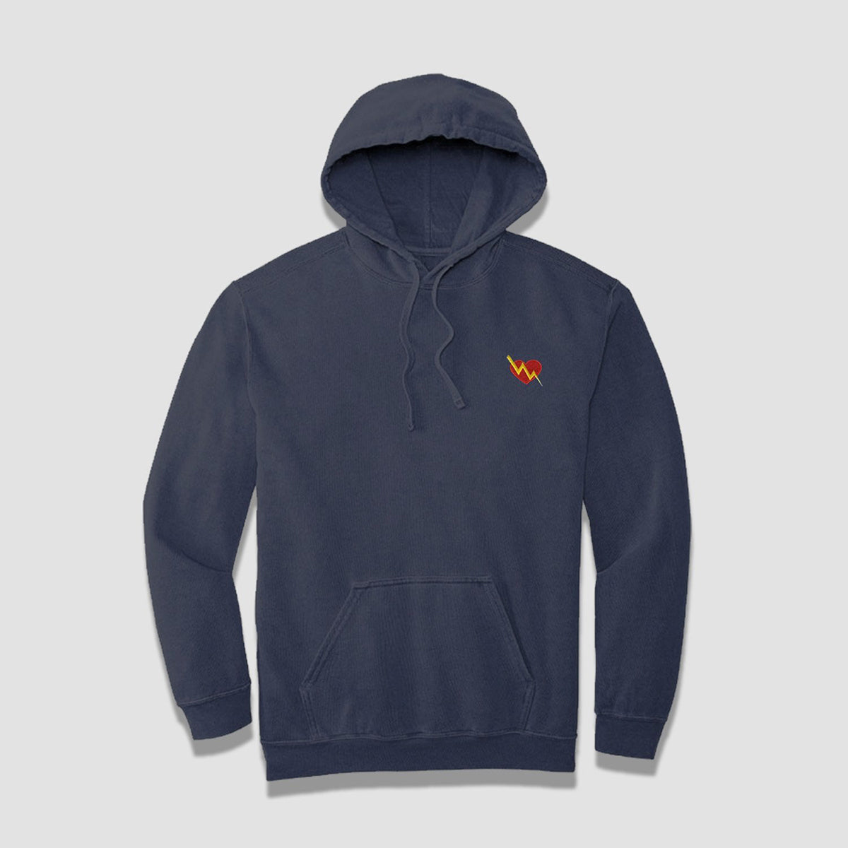 Cozy Heart Embroidered Hoodie (Slate) - ILTHY®