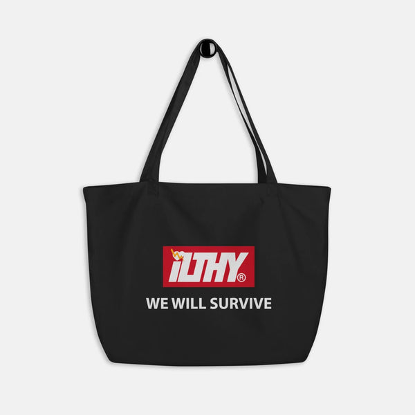 We Will Survive Large Reusable Grocery Bag