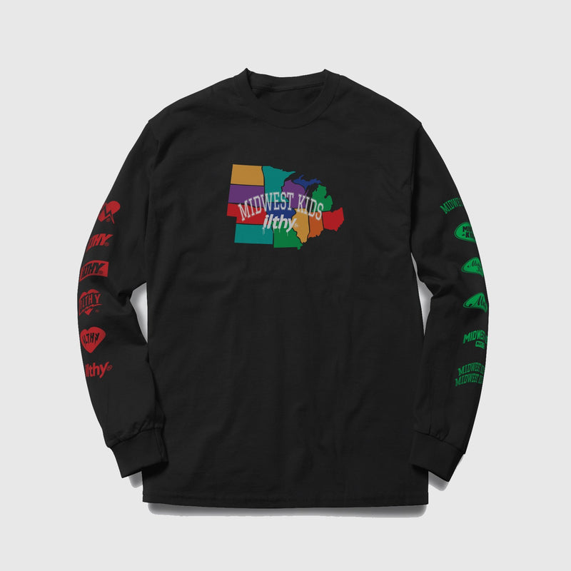 Midwest Kids x ILTHY Map Long Sleeve - ILTHY®