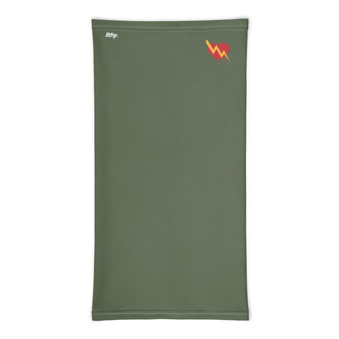CLASSIC HEART NECK MASK (ARMY GREEN)