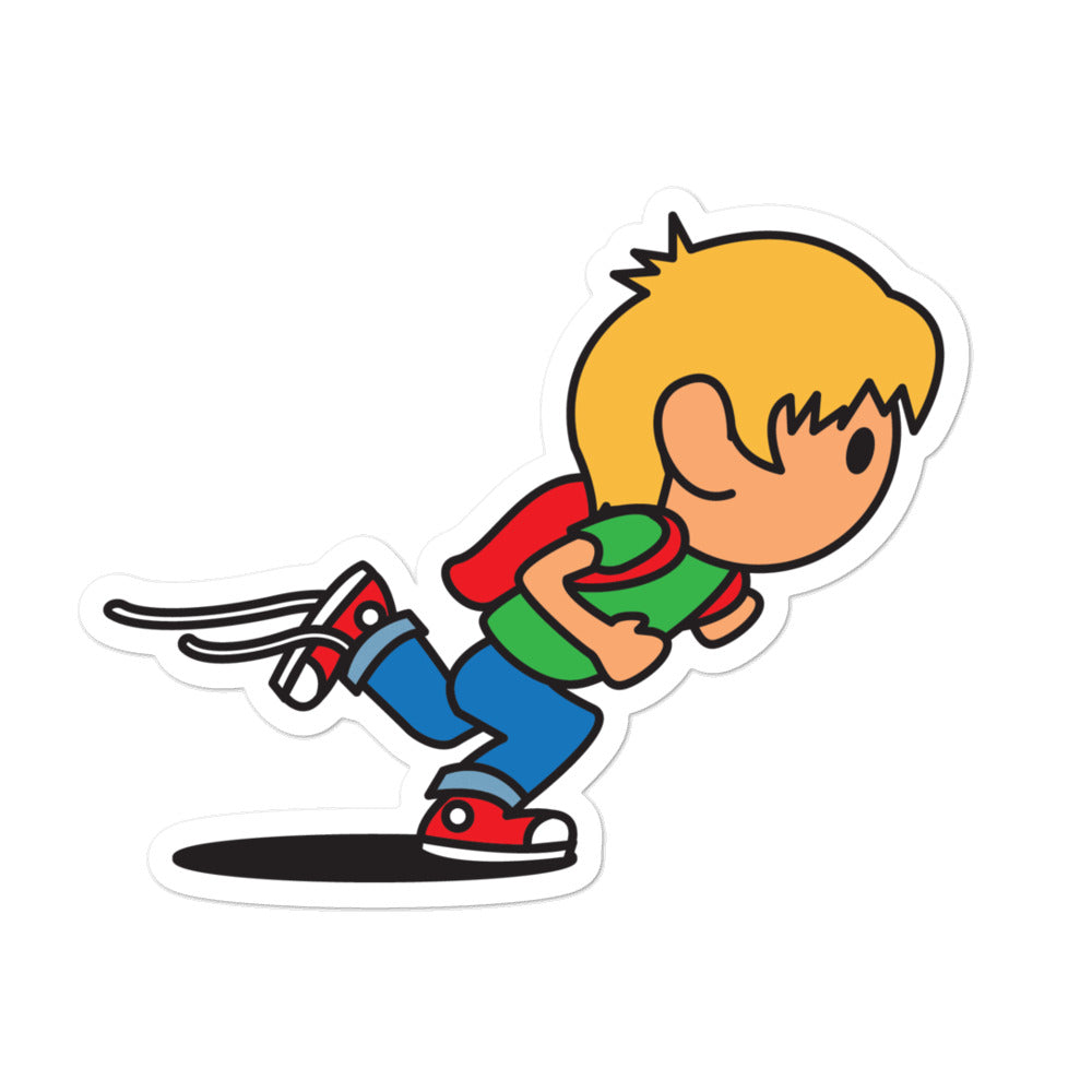 RUNNING KID STICKER