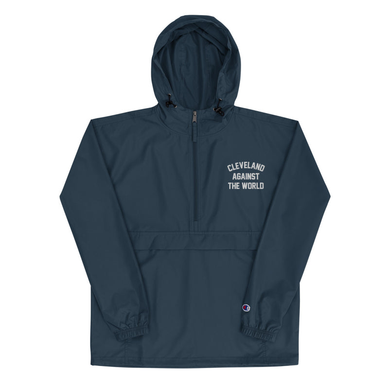 Cleveland Against the World Embroidered Champion Packable Jacket