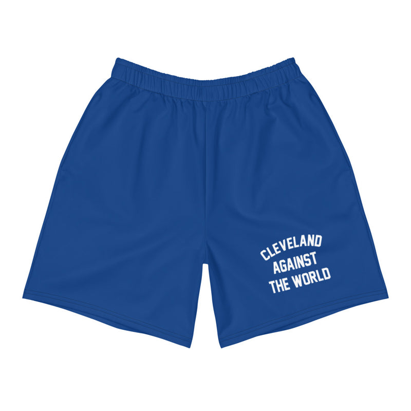 Cleveland Against The World Men's Athletic Long Shorts (ROYAL)