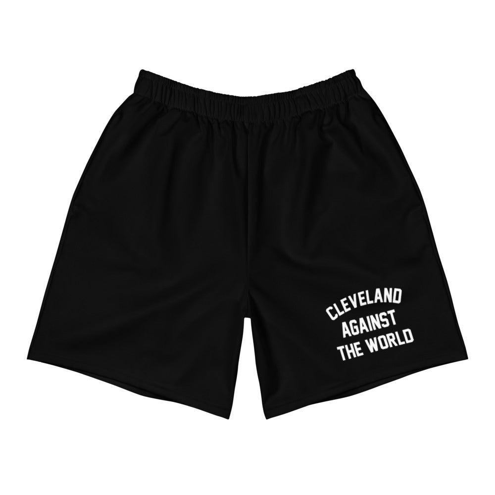 Cleveland Against the World Men's Athletic Long Shorts (BLACK)