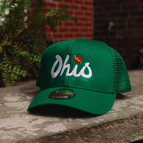 Ohio Script Trucker Cap (Green) - ILTHY®