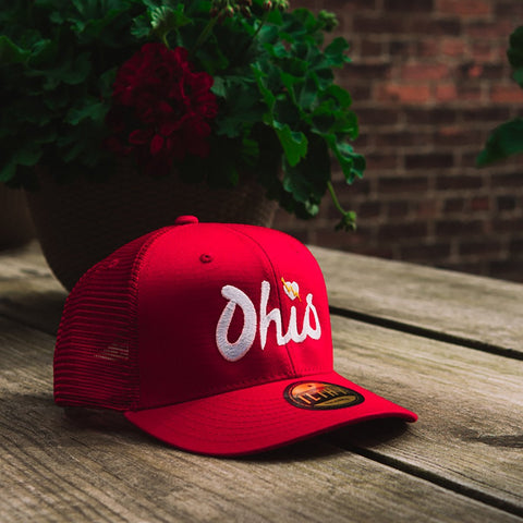 Ohio Script Trucker Cap (Red) - ILTHY®