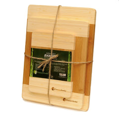 Exra Thick Bamboo Cutting Board Set With White Edges