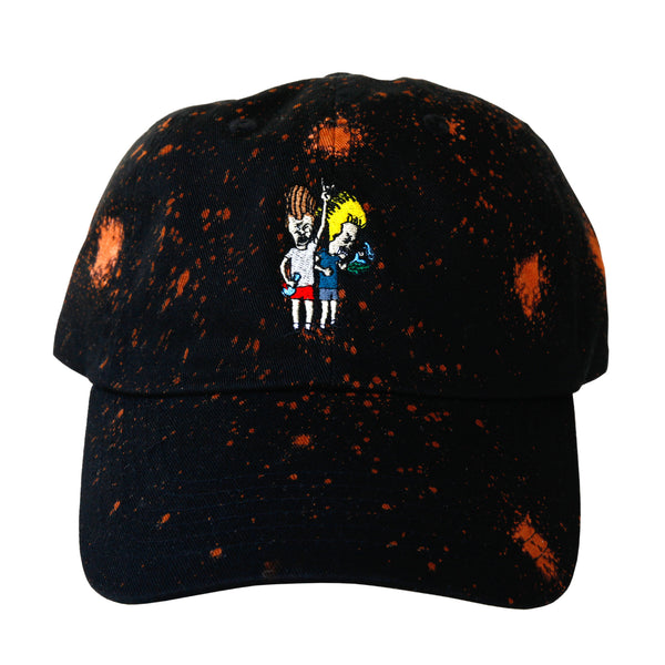 Speckled Beavis N Butthead Dad Hat (Black) - The High Rise Co