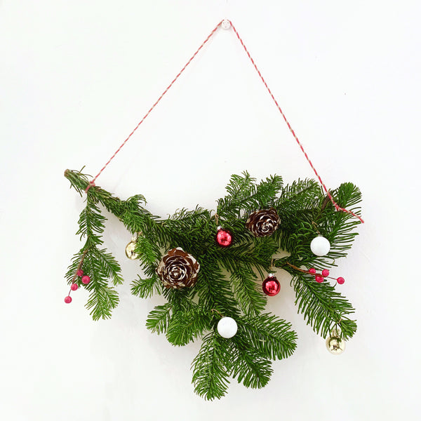 12/15/18 San Jose Made Holiday Fair Bough Wreath Workshop